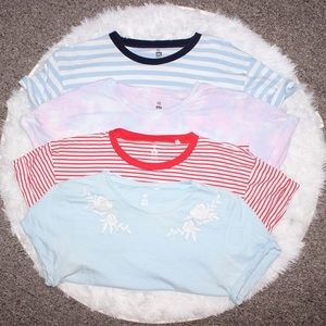 PacSun Bundle of 4 Crop Tees